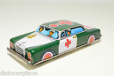 TINPLATE BLECH JAPAN MERCEDES BENZ 220 250 AMBULANCE CAR EXCELLENT CONDITION