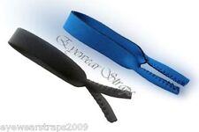 Set of 2 Childrens Kids Black & Blue Glasses Neoprene Safety Band Strap Boys