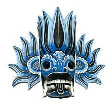 "Sri Lankan Handmade Wood Wall Hanging Stunning Tiki Fire Mask Art 10"" Home Decor"