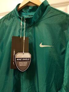 Nike Men's Hyperadapt Shield Lite Half Zip Golf Jacket 824604 351 Rio Teal, XL