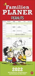 Peanuts Familienplaner 2022 Kalender