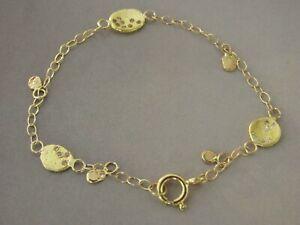 gold diamonds bracelet. 14K Yellow gold bracelet & 0.19ct mix diamonds. Handmade