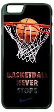 Basketball Never Stops Phone Case for iPhone X 8 PLUS Samsung Google etc