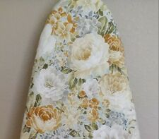 Ironing board cover, Reversible, Padded, Quilted Handmade, Spring Garden Floral