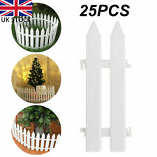 More details for 25x picket fence lawn fencing edging home garden yard christmas tree fence xmas