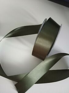 2 metres grey satin ribbon 2.5cm wide ideal for christmas