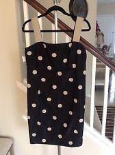 AKRIS PUNTO Black gold/brown polka dot dress Size 10