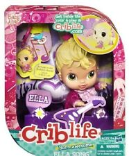 Rare New Box Crib Life Baby Alive Ella Song Doll Hasbro Baby 2010 Retired Blonde