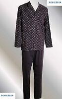 Schiesser  Schlafanzug, Pyjama, lang, bordeaux