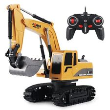 1:24 5CH plastic excavator toy engineering vehicle Best gift toy for boys