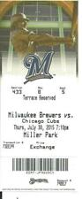 Milwaukee Brewers Chicago Cubs 7/30/2015 Ticket Stub Anthony Rizzo Home Run L@@K