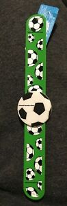 FOOTBALL Slap Band 21cm long BRACELET KIDS GIFT WRISTBAND TOY Goody Bag XMAS2021
