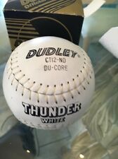 Official Dudley Thunder Softball Ct-12-nd Leather Nib