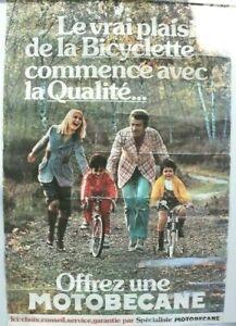 AFFICHE ANCIENNE VELO CYCLE MOTOBECANE MOTOCONFORT SOLEX MBK années 70