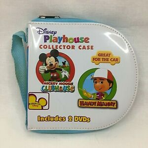 Disney Playhouse Collector Case & 2 DVD's Mickey Mouse clubhouse & Handy Manny