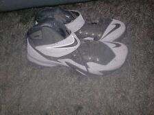 Lebron James Nike 688579-001 Grey Black Prm Zoom Solider Basketball Shoes Sz 9.5