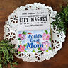 Worlds Best MOM Gift Party Favors DecoWords USA Fridge All topics of Magnets !