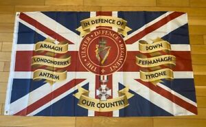 Ulster Defence Regiment CGC Flag UDR CGC 5Ft X3 Ft