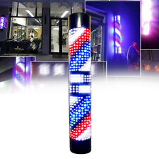 Hair Salon Led Pole Light Red White Blue Stripes Rotary Barber Shop Sign Lamp