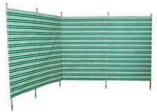 Blue Diamond 5 Pole Windbreak Green Stripe 5 x 12ft Rot Proof