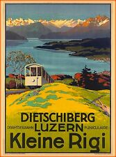 Luzern Switzerland The Dietschiberg Vintage Travel Advertisement Art Poster