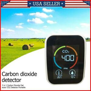 3in1 Portable Air Quality Analyzer CO2 Meter Temperature Humidity Sensor Monitor