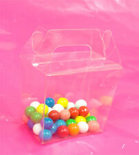 "50~ 2-7/8x2-1/16x3-1/8"" Clear Pet Plastic Chinese Take Out Party Favor Boxes Box"