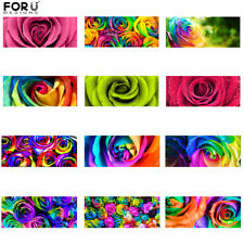 """Non-slip Floral Rose Carpet Stair Mats Home Indoor Stair Treads Mats Rugs 23""""x9"""""""