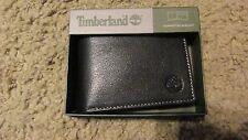 TIMBERLAND Men Genuine Leather Commuter Bifold WALLET NIB Black D11387/08