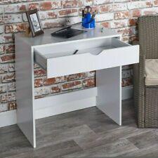 Urbn-Living Dressing Table Work Desk 1 Drawer, Wooden White H75 x W75 x D40 cm
