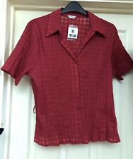 BNWT Editions Red Blouse Size 20