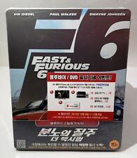 FAST & FURIOUS 6 Blu-ray STEELBOOK 1/4 SLIP [KOREA] BRAND NEW  *PLEASE READ*