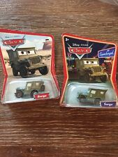 Disney Pixar Cars Sarge Lot Of 2