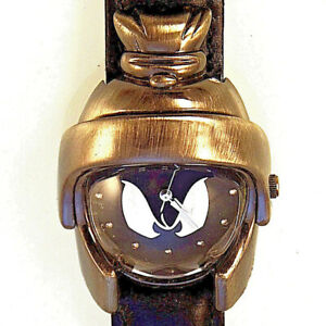 Marvin The Martian Helmeted Looney Tunes, Fossil Designed Warner Bros Watch! $69