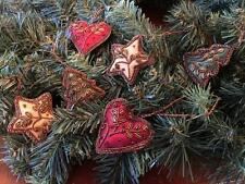"""Culturas Trading 6 Piece 3"""" Hand-Embroidered Fabric Christmas Ornaments"""