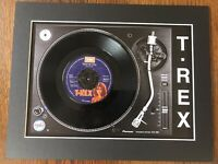 "T Rex - Truck On (Tyke) - Genuine 7"" Single Mounted on Record Player Print"