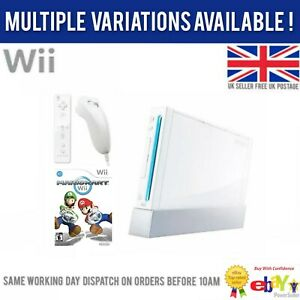 Nintendo Wii Bundle x1 Game Controller, Nunchuck Cables Multiple Options Availab