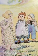 RAGGEDY ANNE AND ANDY With JENNY 1951 Johnny Gruelle Color Print