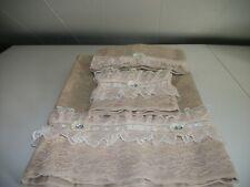 3Pc Beige Bath Towel Sets