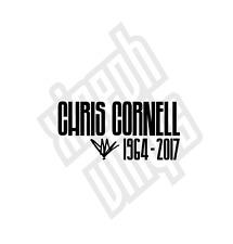 Chris Cornell vinyl sticker decal car Soundgarden rip memorial (window optional)