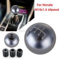 6 Speed Aluminum Car Manual Gear Shift Knob Round Ball Type-R For Honda Civic
