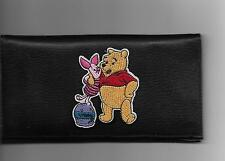 WINNIE THE POOH LEATHER CHECKBOOK COVER WITH PIGLET HONEY JAR