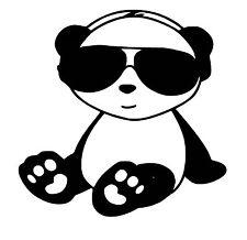 Panda vinyl Decal / Sticker