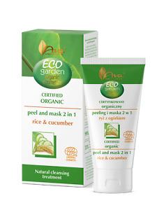 Ava Laboratorium Eco Garden Certified Organic Peeling & Masc 2in1 RICE &CUCUMBER