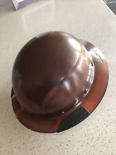 New listing Lift Safety Hdf-15Ng Dax Natural Brown Full Brim Hard Hat w/ Ratchet Suspension
