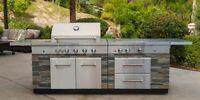 KitchenAid Stone Island 9-Burner Stainless Gas BBQ Grill LED Cover 10yr WARRANTY