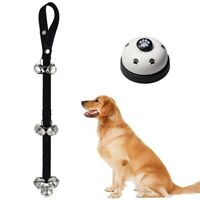 Dog Bell Metal Bell Training with Non Skid Rubber Bottoms Dog Doorbell Training