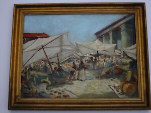 FINEST GLENN BASTIAN OIL PAINTING OLD MEXICO 1930'S AMERICAN IMPRESSIONIST RARE