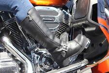 Harley Davidson Black Leather Biker Hutcheson Boots Women's Size 9.5 NEW IN BOX