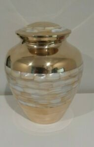 CREMATION URN ADULT - MOTHER OF PEARL URN